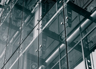 Architecture Background. Glass facade system